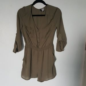 Olive Green Divided Romper